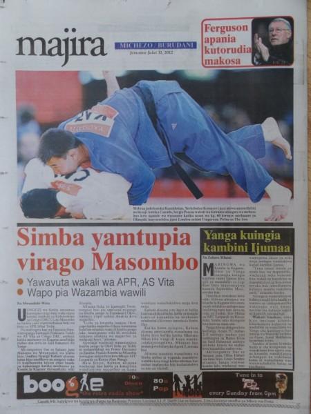 BAADHI YA MAGAZETI KWA SIKU YA LEO july 31, 2012
