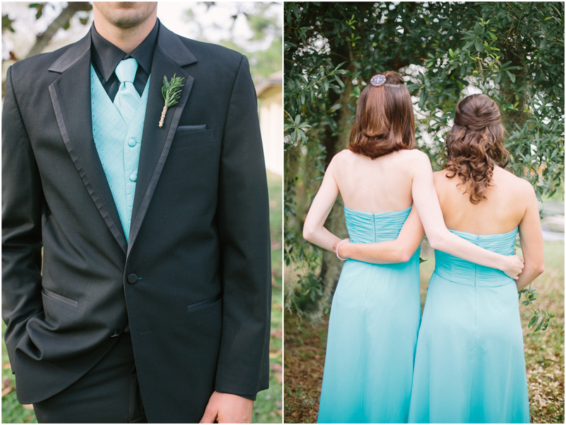 palm beach florida wedding teal and black