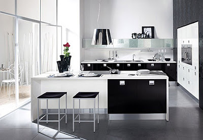 dream kitchen design in black and white
