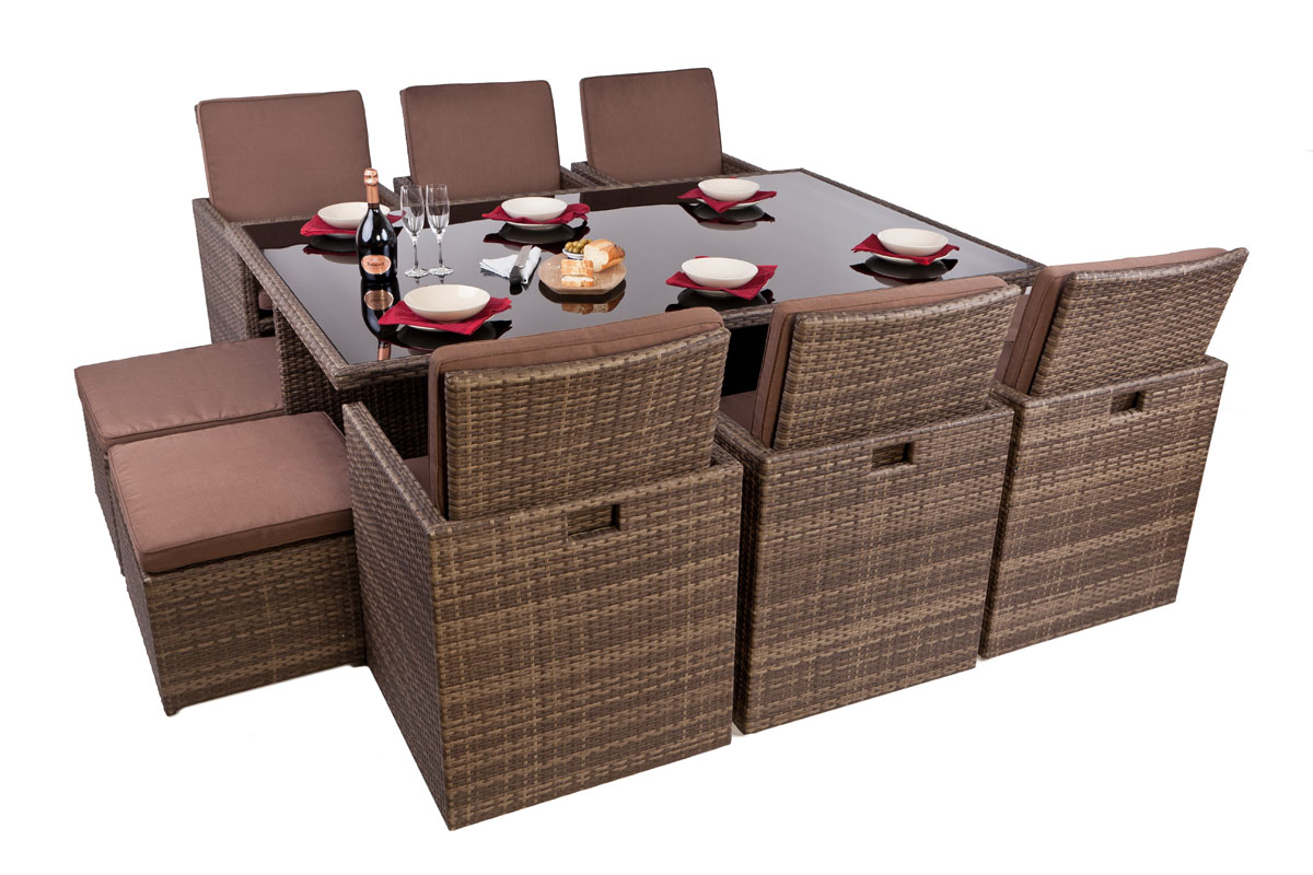 httpwwwoutsideedgegardenfurniturecoukrattan garden furniturerattan setsrattan 6 seater garden cube dining sethtml - Rattan Garden Furniture 6 Seater