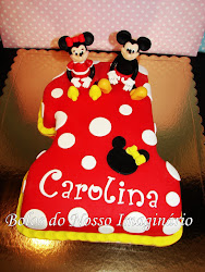 BOLO MINNIE E MICKEY