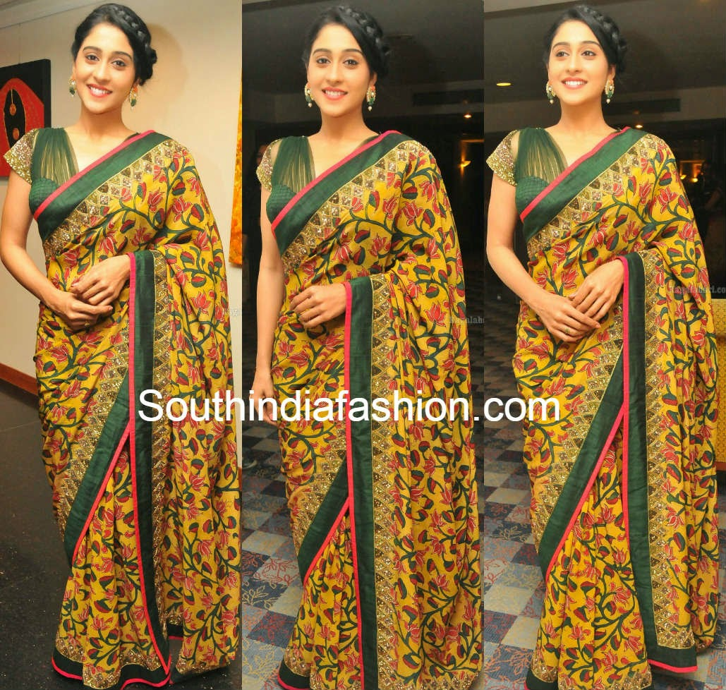 regina cassandra in sashikanth naidu saree at prathyusha support