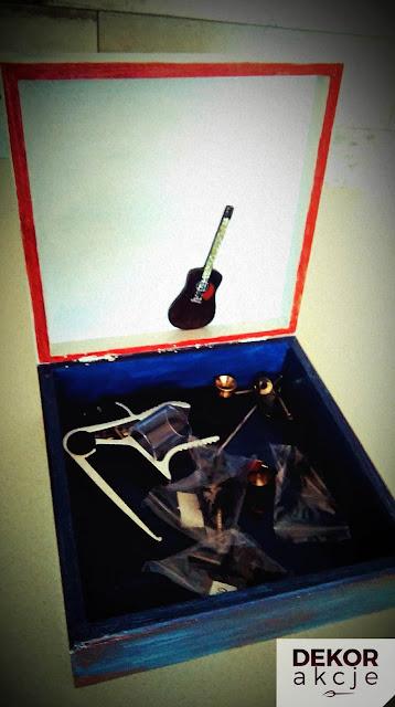 Pudełko decoupage dla mężczyzny