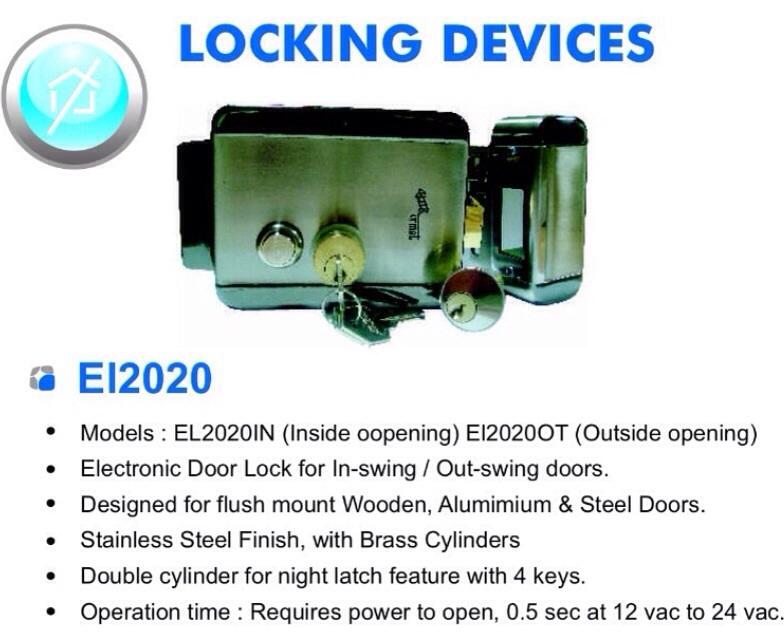 Alba Urmet Electronic Door Lock @ 2150/-