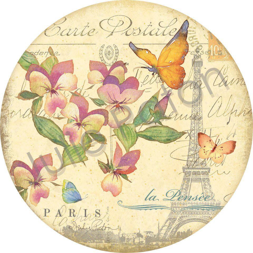 Pura inspira o lindas imagens vintage para decoupage for Reloj de pared vintage 60cm