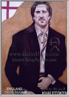 STARS ENGLAND  DAVID SEAMAN Portrait Drawing Soccer Football Khaled3Ken Gallery