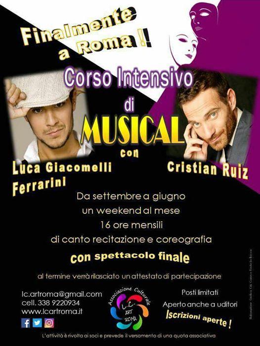 CORSO INTENSIVO DI MUSICAL CON LUCA GIACOMELLI FERRARINI E CRISTIAN RUIZ