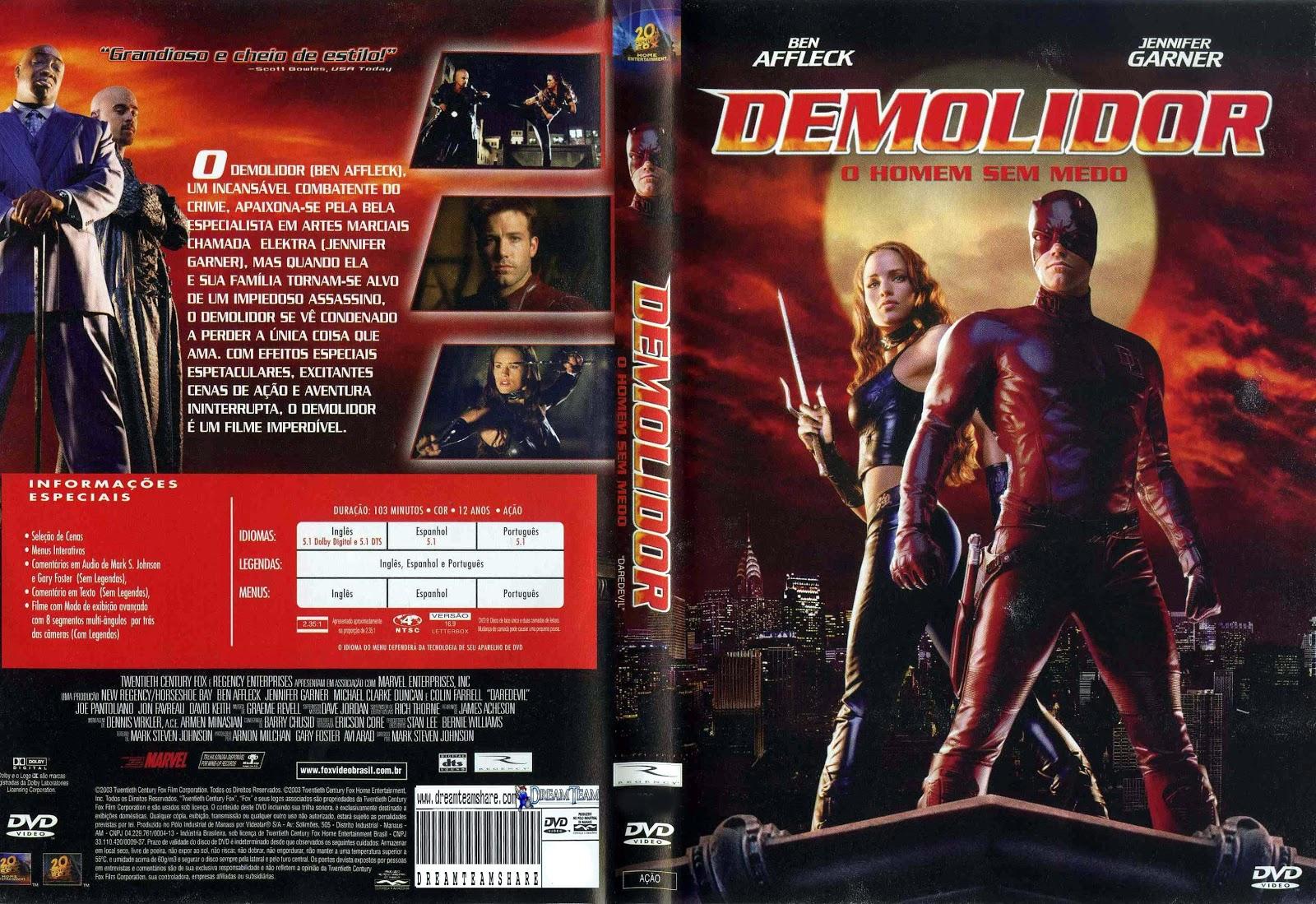 Capa DVD Demolidor O Homem Sem Medo