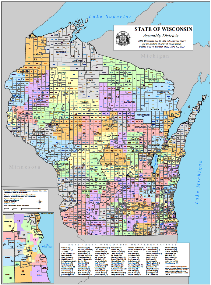 Us Representative District Map Wi Globalinterco - Wisconsin state map of us