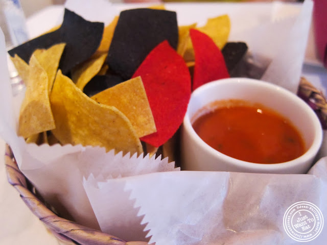 image of tortilla chips and salsa at Sabores in Hoboken, NJ
