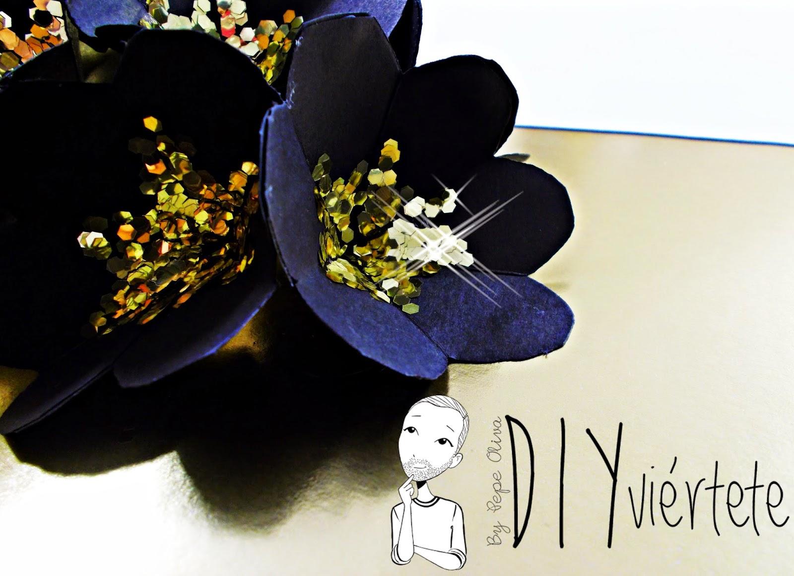 DIY-craft-tarjeta navideña-pop up-navidad-flores-Christmas-felicitación-2