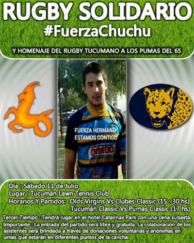 #FuerzaChuchu: se viene una gran jornada solidaria
