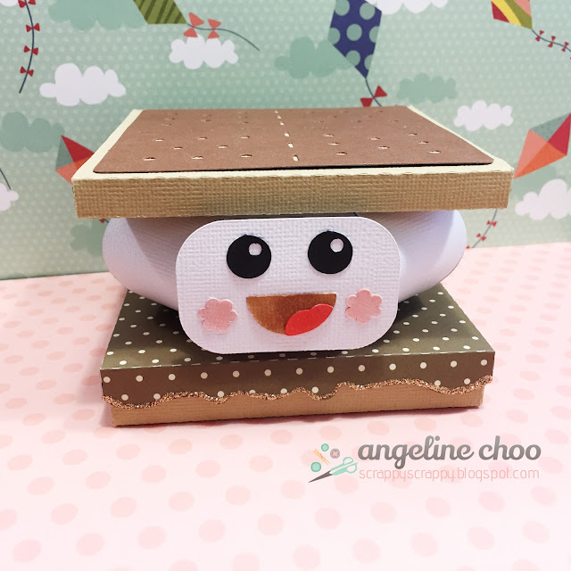 ScrappyScrappy: Smore Fun 3D gift card box  #svgattic #scrappyscrappy #giftbox #smore #svg #cutfile