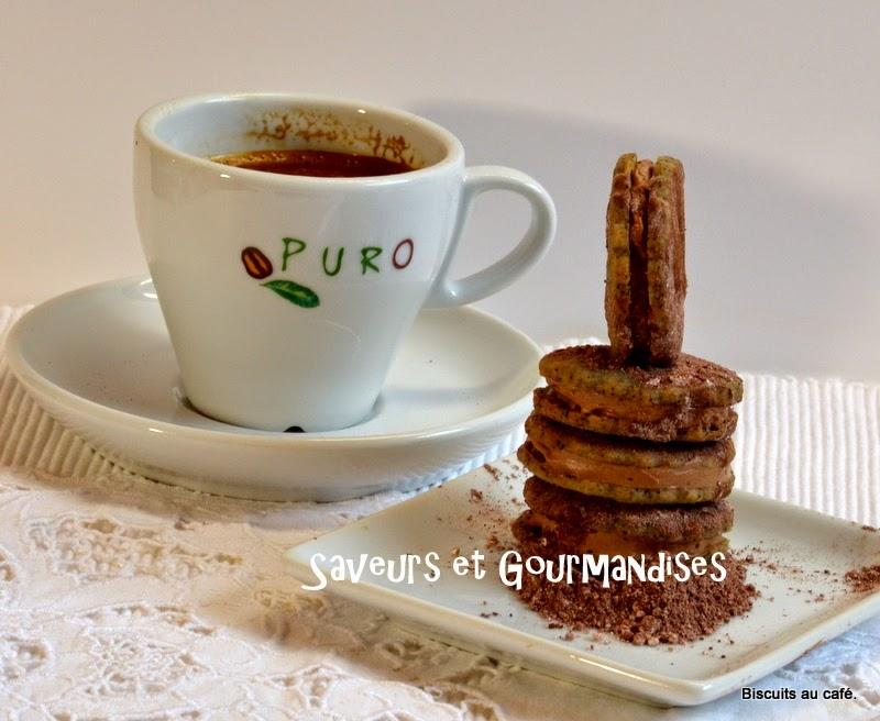 Biscuits Fourrés Café-Chocolat.