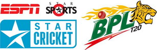 Bangladesh Premium League BPL T20 Cricket match Live from Channel 9, ESPN or StarSport TV channel.