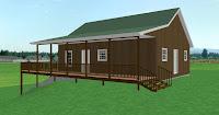 modelo de vivienda de madera de campo