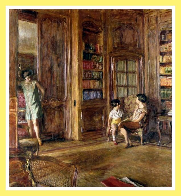 Dans la bibliothèque