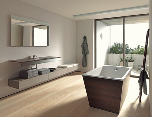 economic bathroom design by duravit onto by matteo thun