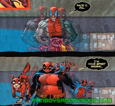 Read Dogpool's first appearance in Prelude to Deadpool Corps #1
