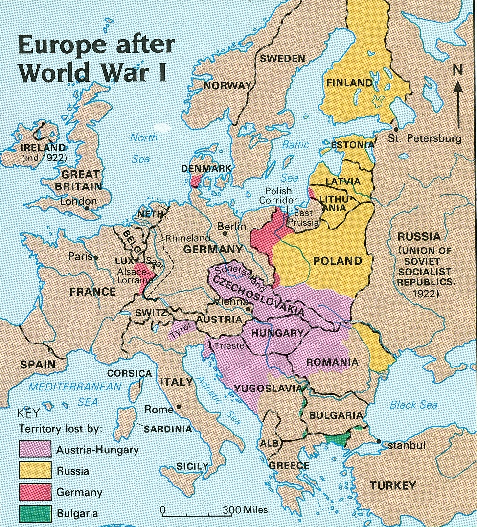 Political Map Of Europe During World War 1