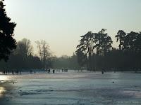 Fond d'écran janvier 2012 - Lac du bois de Boulogne gelé en janvier 2009