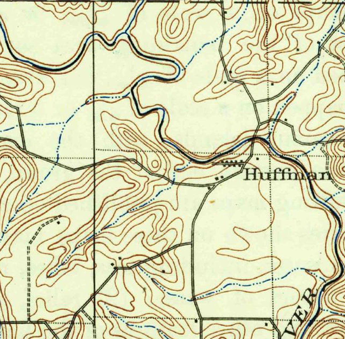 the first image is copied from the 1910 usgs map while the bottom usgs map shows the current location of roads buildings etc