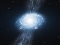 Artist's Rendering of Young Galaxy 2 billion years old.