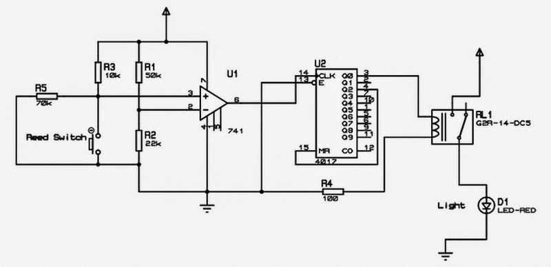 m To Vary The Light Intensity Of A 220v Bulb further Electronicstechnic blogspot together with Solenoid Switch Mag ic Relay 7817 as well Digital Logic Or Gate also Solar Birdhouse Light Circuit. on light switch circuit diagram