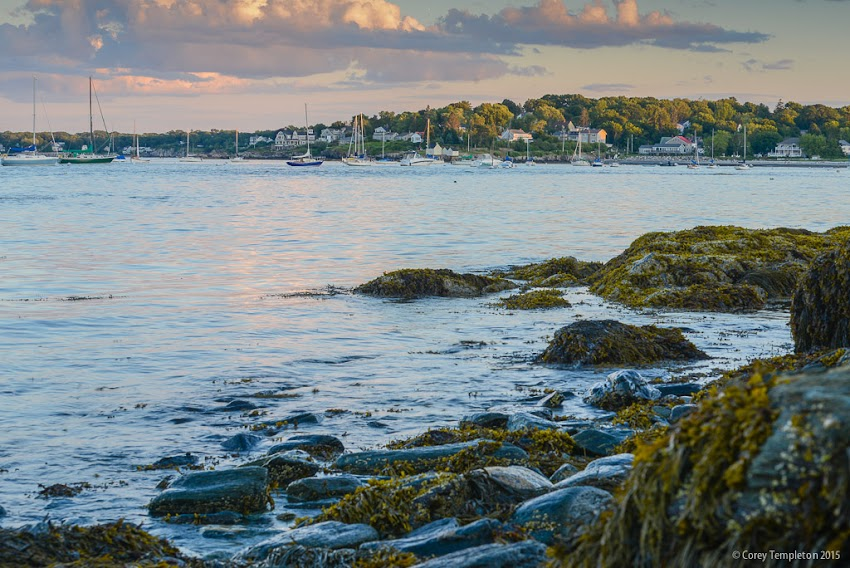 July 2015 South Portland, Maine USA Photo by Corey Templeton - A view towards the Willard Beach section of South Portland, from the rocks near Fort Preble.