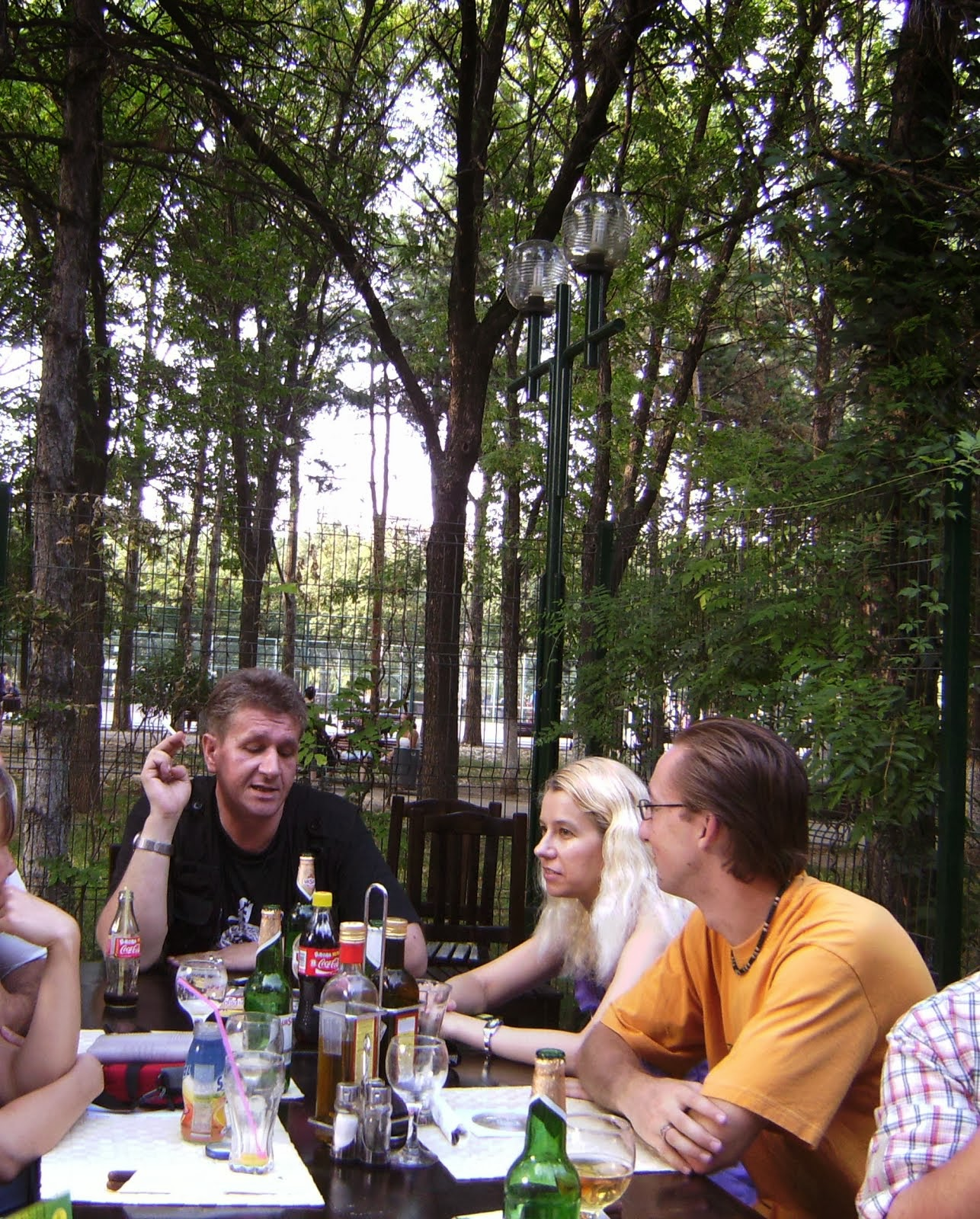 Olivia Maria Marcov, Sorin Rãzvan Popa (in negru), Adrian Pafa, colegi USH, Dr.Taberei, aug.2009