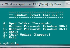 Windows Expert Tool 4.3.1 - Recover all Passwords in Windows OS