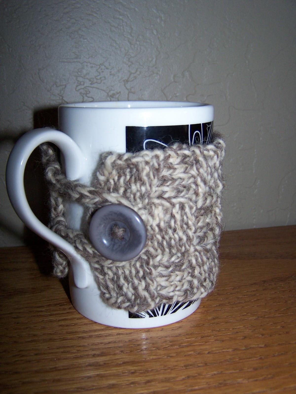 Knitted Mug Warmers Pattern : Herself At Home : knitted woven mug warmer