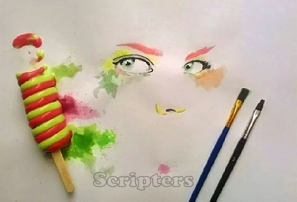 Lukisan Yang Dihasilkan Daripada Ice Cream