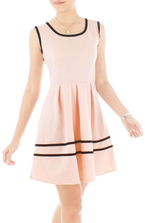 Adore Me Flare Dress – Light Pink