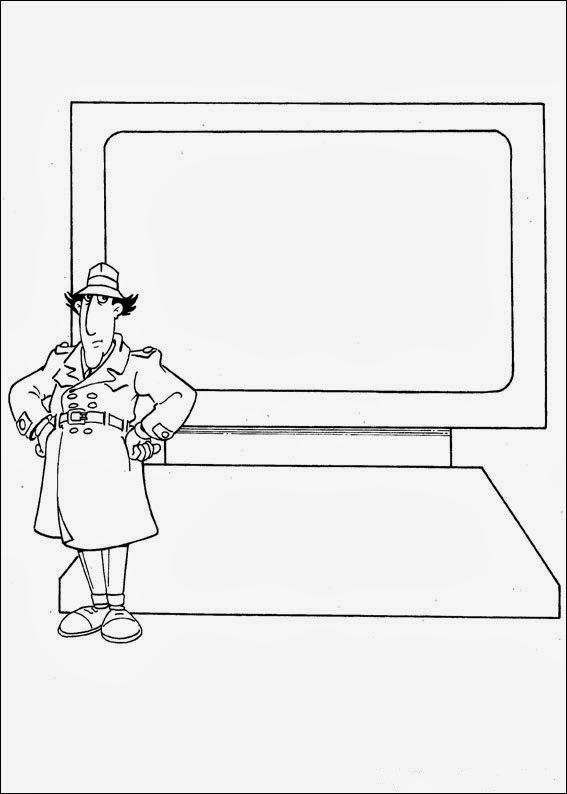Fun Coloring Pages Inspector Gadget Coloring Pages