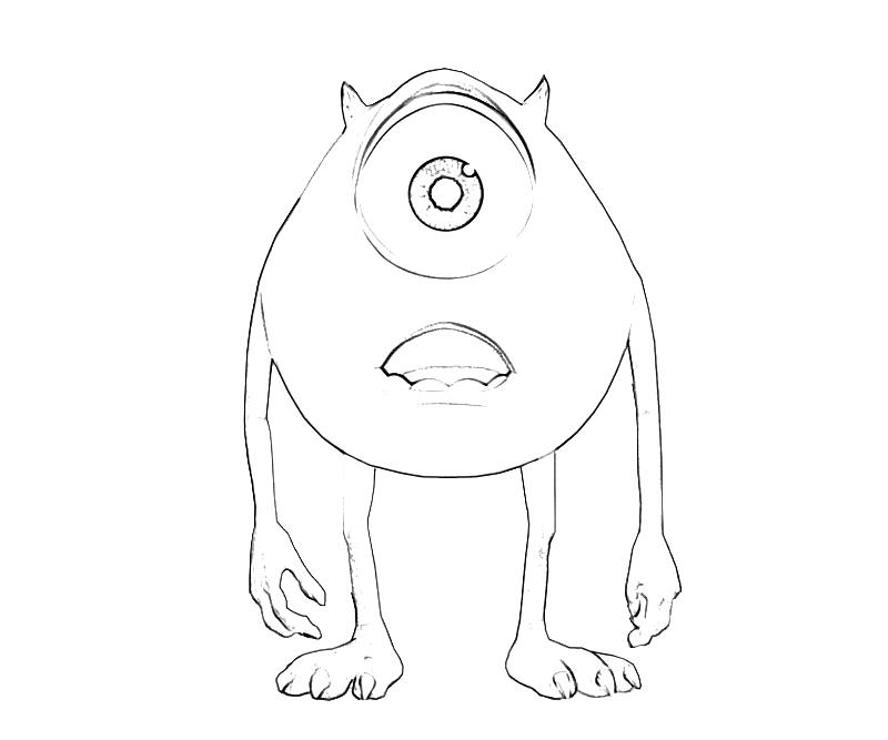 Sully and mike wazowski coloring coloring pages for Mike wazowski coloring page