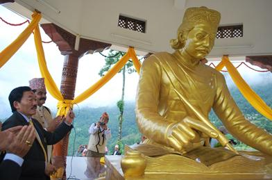 Statue of Bhanu Bhakta Acharya in a sitting posture in Sikkim