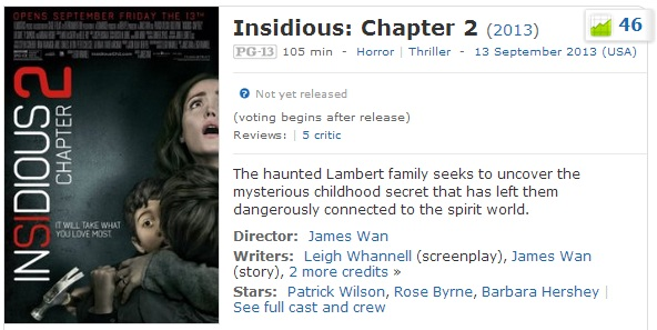 Watch Insidious: Chapter 2 Full Movie Online Free