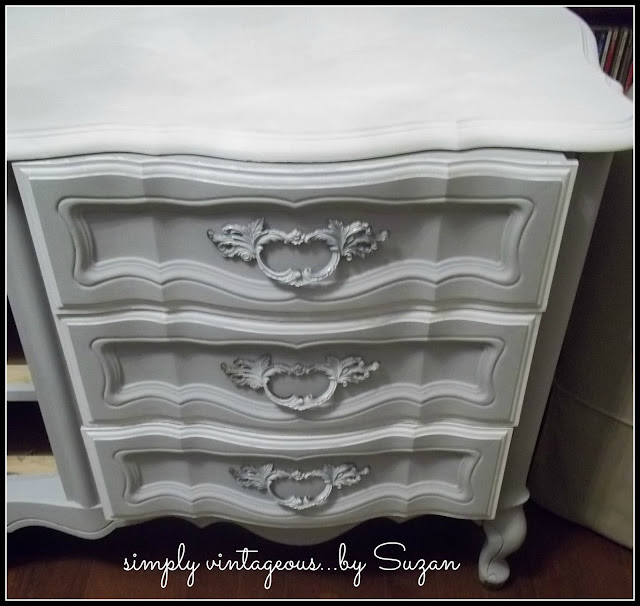 paris grey, white, dresser, makeover, chalk paint, annie sloan, before, after