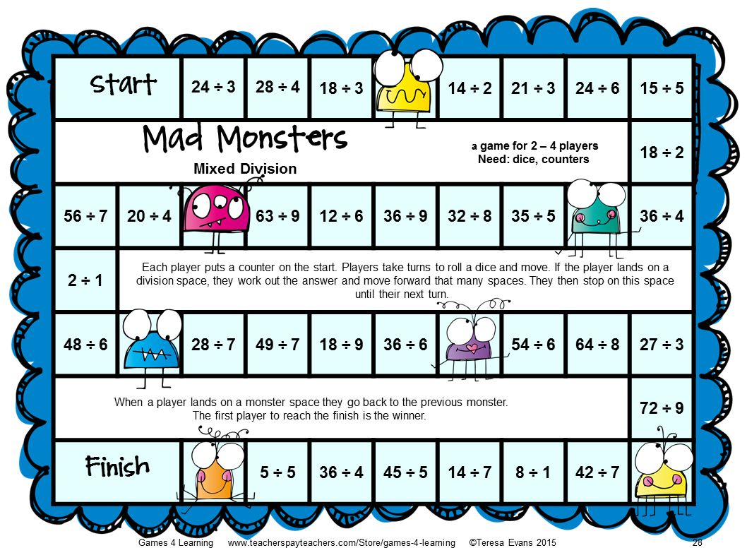 Fun Games 4 Learning: Monster Math Games Makeover!