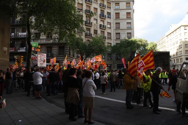 protesty w Hiszpanii (Barcelonie)