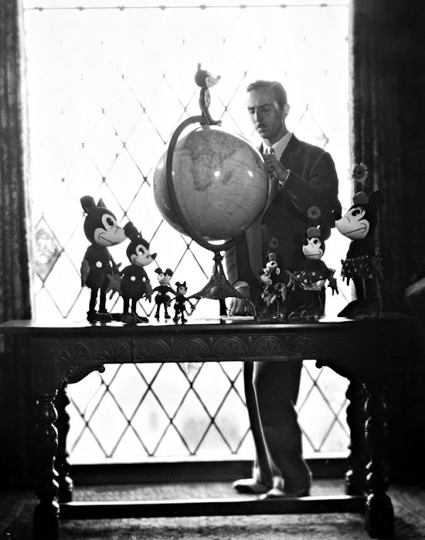 Walt Disney in his home office.