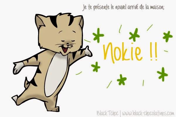 Je te présente le nouvel arrivé de la maison. C'est un chaton et il s'appelle Nokie!