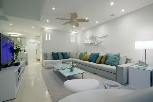 Sala Pequena Com Sofa De Alvenaria ~  de Interiores Para cada formato de sala, um tipo de decoração