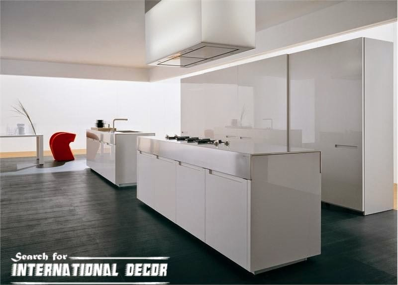 Italian kitchen, Italian cuisine, modern white kitchen