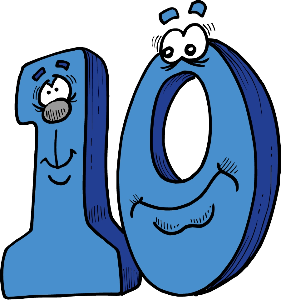 free clip art numbers 1 10 - photo #34