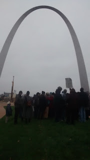 Scotty at the Climate March #OursToLose StLouis Participants