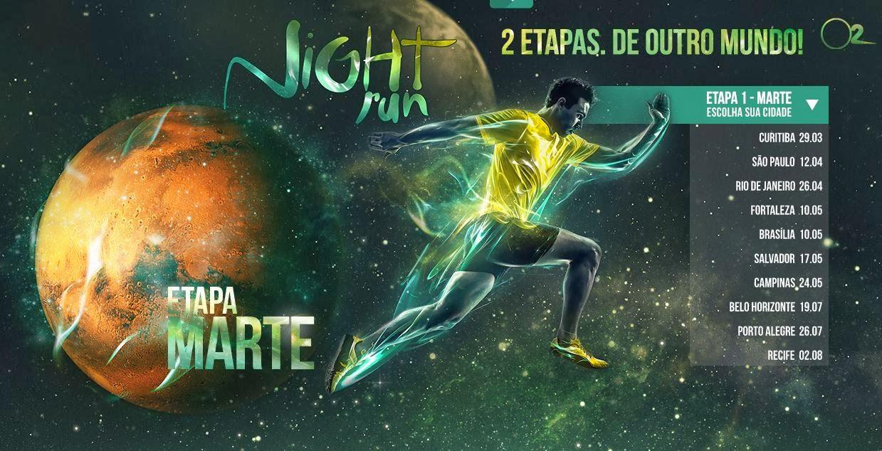 Print screen descarado da Night Run Etapa Marte 2014