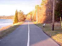 Photo of the Cape Cod Canal bike path