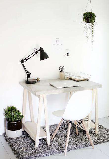 Tischplatte aus Beton zum Selbermachen - der diy Tipp für Schreibtisch im Büro oder Küchenplatte in der Küche